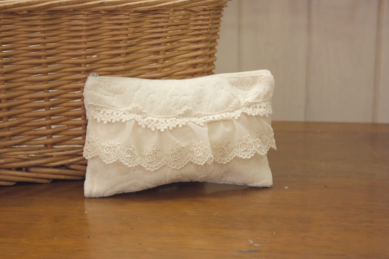 Rose towel ジャカード織 マルチケース 約12×20cm