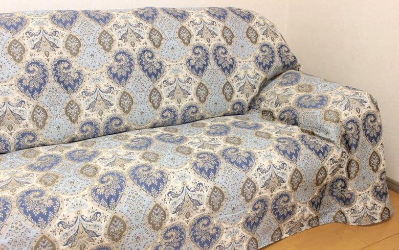 Alva シェニール織 マルチカバー 約180×260cm