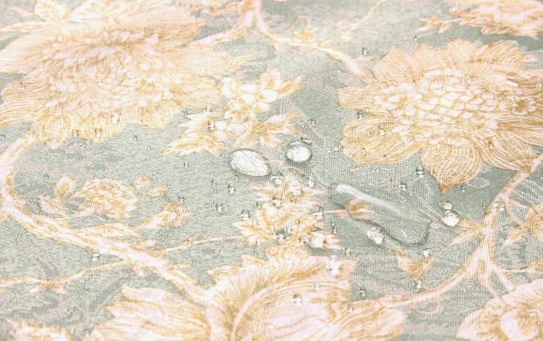 Turquoise 撥水加工ジャカード織 テーブルクロス 約130×200cm