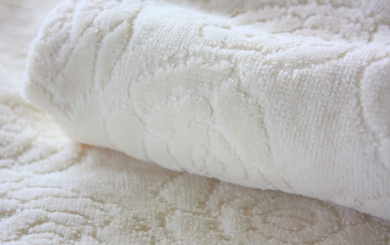 Rose towel ジャカード織 巾着 約23×18cm
