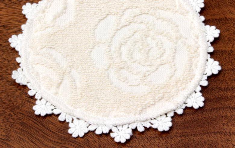 Rose towel ジャカード織 タオル コースター 約15cm