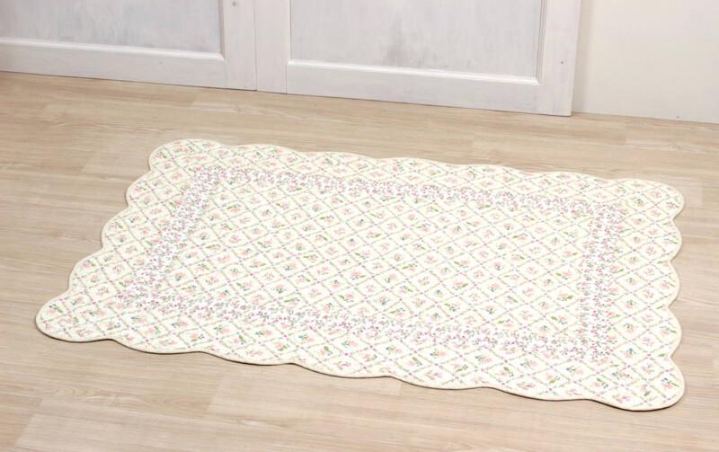 flores コットンキルト ちょっとマット 約95×135cm