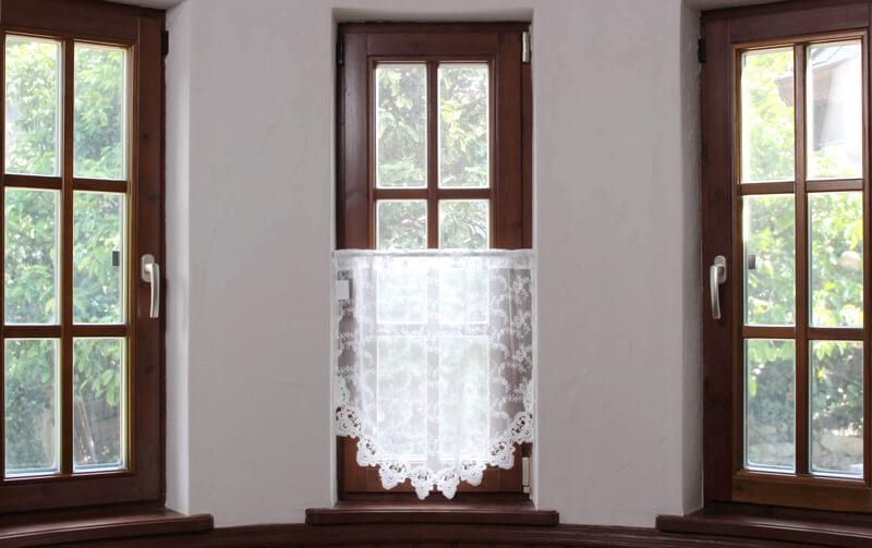 le quartz 刺繍&ギュピールレース スリムカーテン 約60×60cm