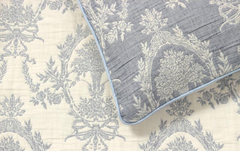 Classical Bouquet 抗菌防臭☆ふくれ織 ピローケース 約43×63cm