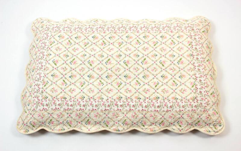 flores コットンキルト 長座布団カバー 約68×105cm