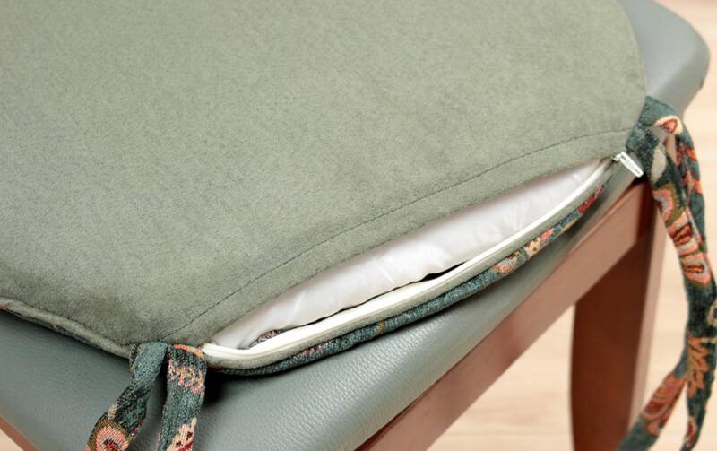 caprice  シェニール織 紐付シートクッション 約43×45cm