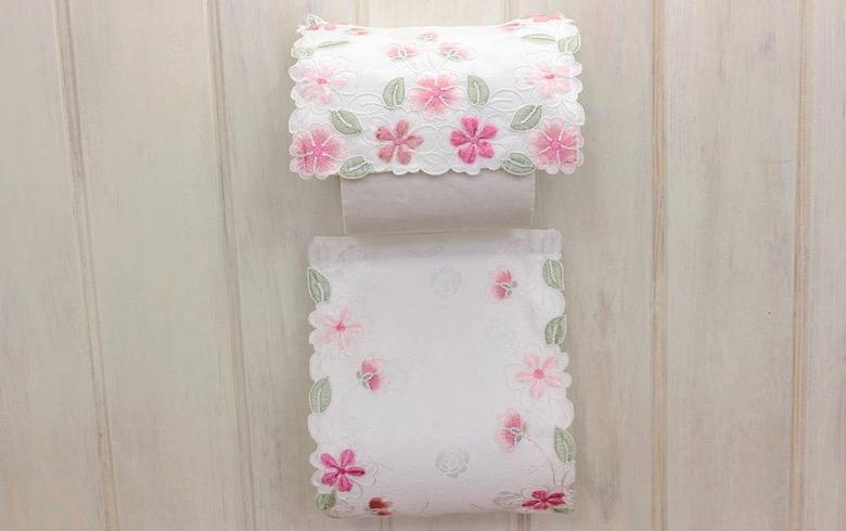 SakuraVelvet コード刺繍 ペーパーホルダー 約16×36cm