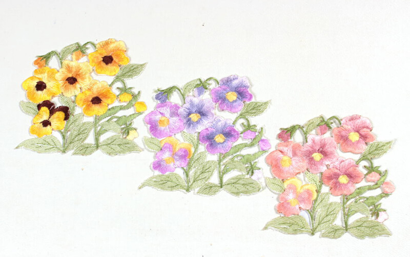 viola 刺繍 コースター 約12×12cm