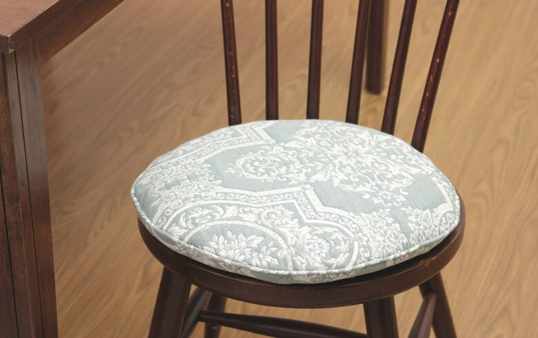 Classica ふくれ織 チェアパッド 直径約38cm