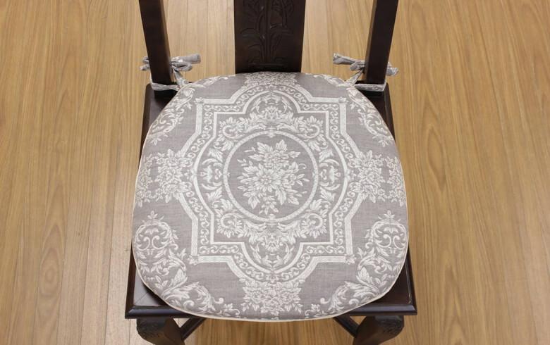 Classica ふくれ織 紐付シートクッション 約43×45cm
