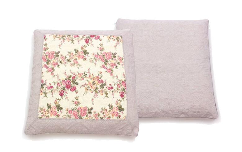Rose-anne コットン多針キルト 座布団カバー 約55×59cm