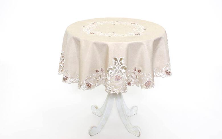 Rose Metopes カットワーク刺繍 テーブルクロス 約100cm