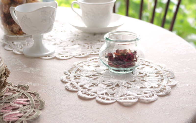 Arte rosa コード刺繍 ドイリー 約20cm