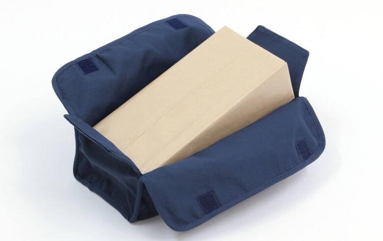 Sheena リボン刺しゅう ティッシュボックスカバー 約26×12×6cm