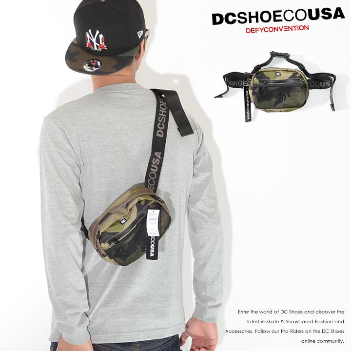 【セール】DC SHOES ディーシーシューズ ショルダーバッグ サコッシュ 横型 総柄 迷彩 メッシュポケット (EDYBA03056)
