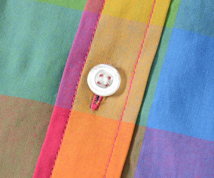 LRG エルアールジー 半袖シャツ ブロックチェック マルチカラー シングルポケット (L0QTMSBXX)