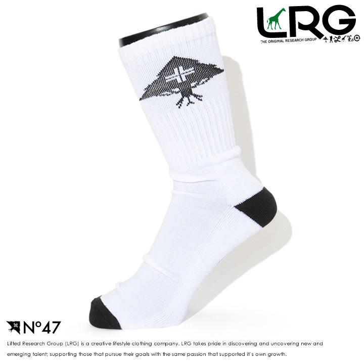 LRG エルアールジー ハイソックス 靴下 サークルツリーロゴ ツートンカラー (L07UVUFMXX)