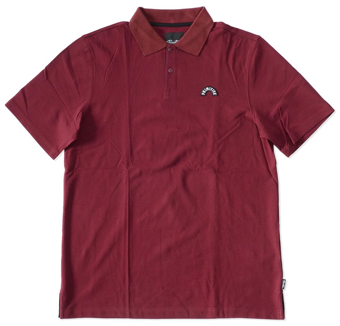 【セール】【アウトレット】PRIMITIVE プリミティブ ポロシャツ 半袖 鹿の子 胸アーチロゴワッペン *(PR16FU08)