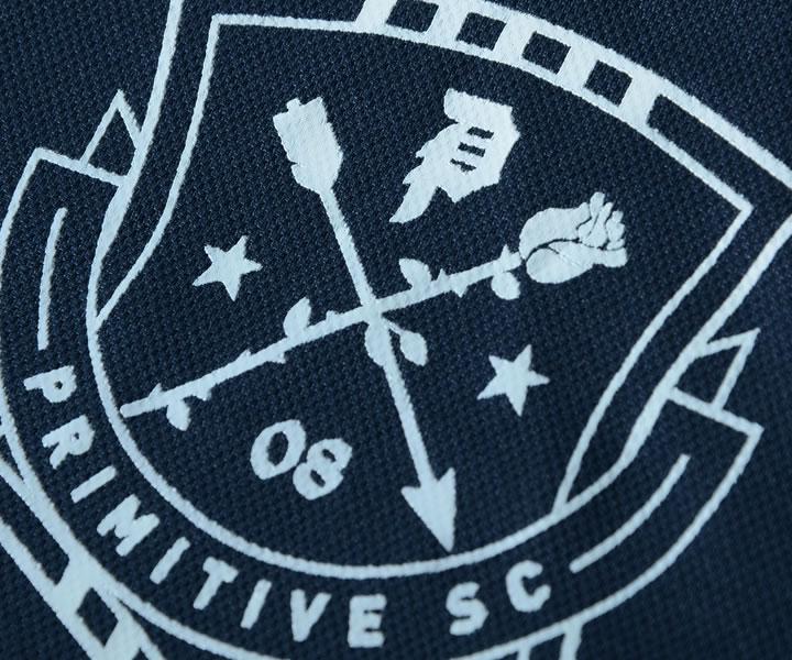 【セール】【訳あり】PRIMITIVE プリミティブ ポロシャツ 半袖 総柄フラワー 胸スクリプトロゴ刺繍 *(PA318355)