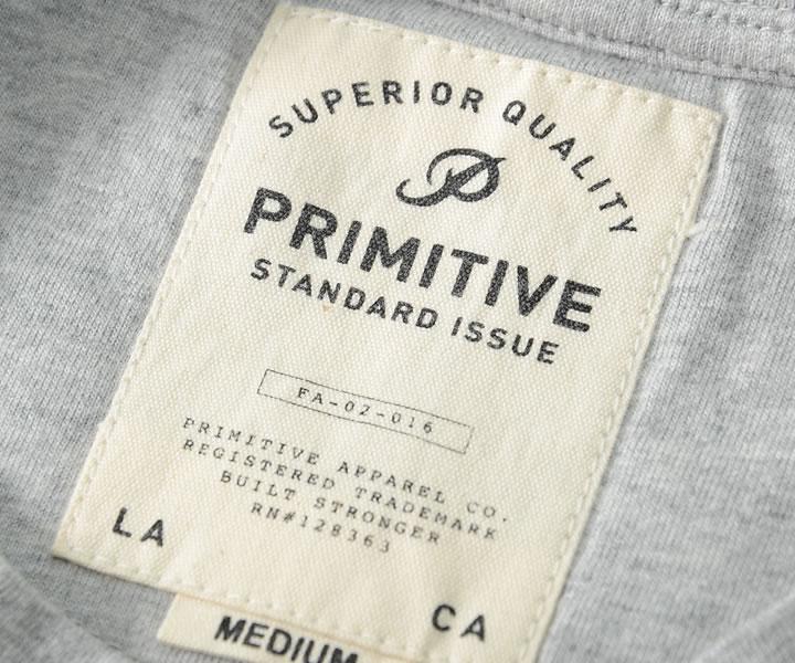 【セール】【アウトレット】PRIMITIVE プリミティブ Tシャツ 半袖 チェストボーダー 胸ポケット *(PR16FU07)