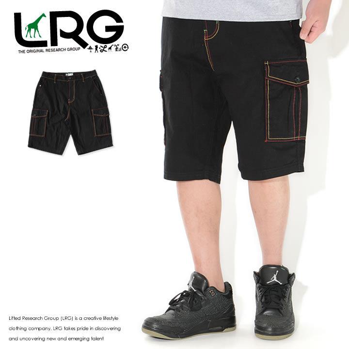 LRG エルアールジー ショートパンツ カーゴポケット ラスタカラーステッチ (L0QDMBSXX)