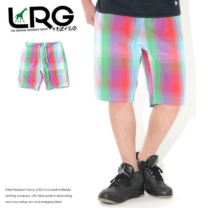 LRG エルアールジー ショートパンツ イージーパンツ チェック柄 (L0RBMBSXX)