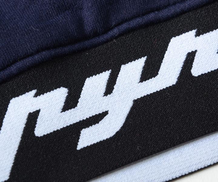 【セール】BLACK PYRAMID ブラックピラミッド スウェットパーカー ラバーネームロゴ リブロゴデザイン (Y5162124)