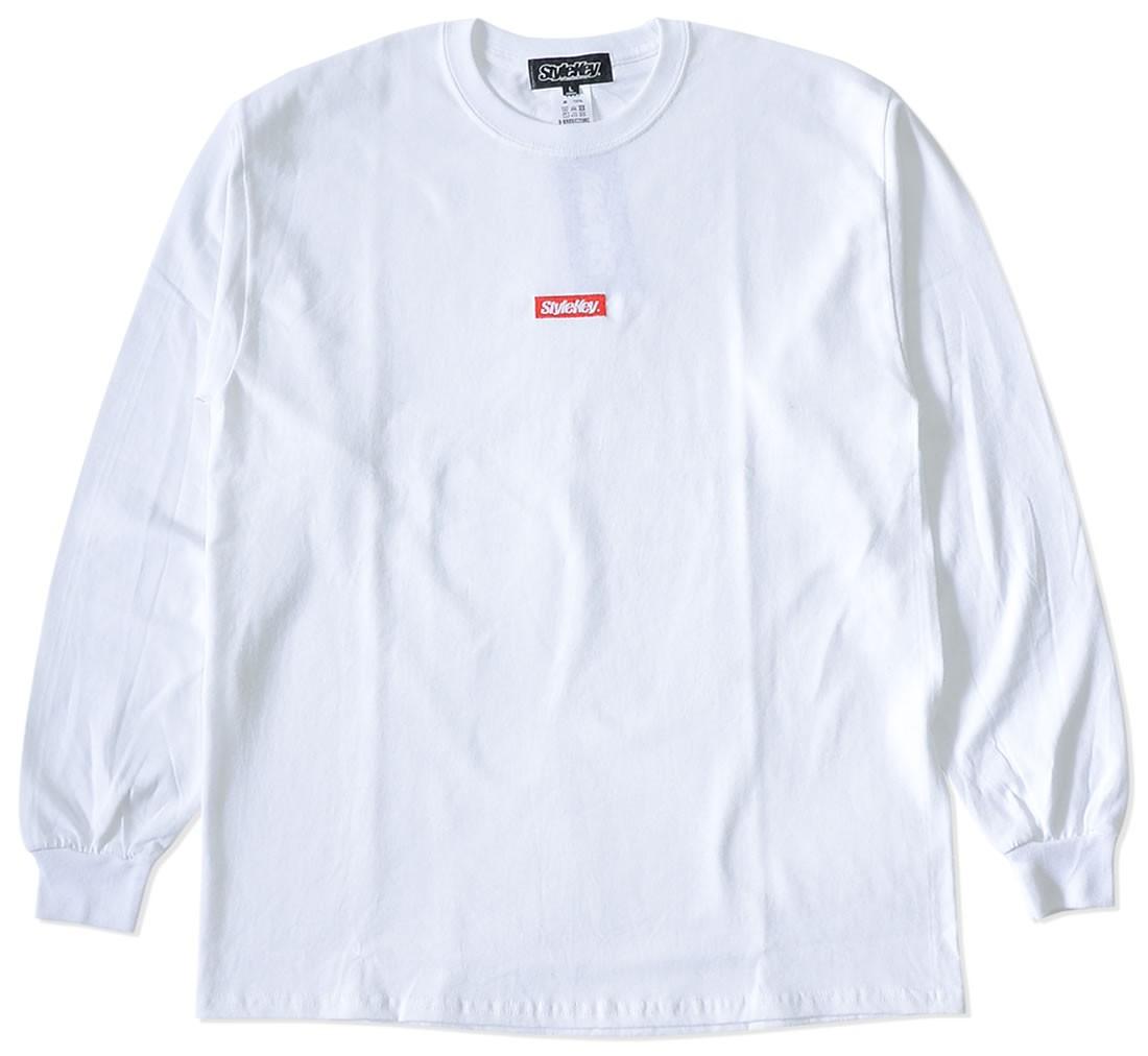 STYLEKEY スタイルキー ロンT ロングTシャツ 長袖 スモールBOX刺繍 スマートロゴ (SK21SP-LS01)