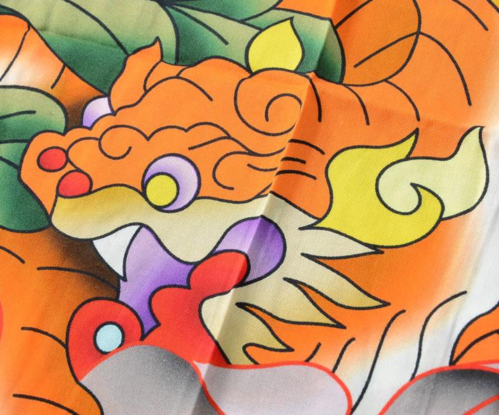 LRG エルアールジー 半袖シャツ 総柄 アジアンデザイン ビッグイラスト (E202001)