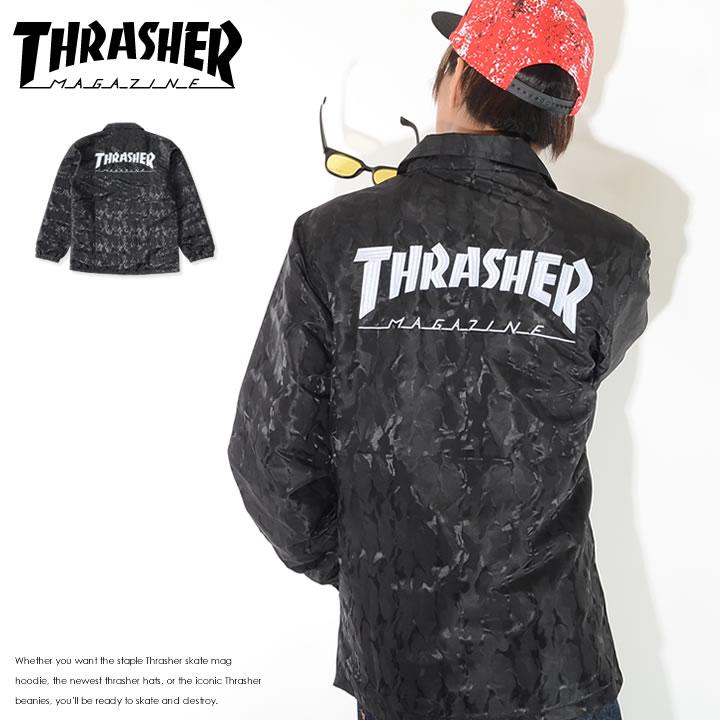 【セール】【アウトレット】THRASHER スラッシャー コーチジャケット 左胸バックMAGロゴ刺繍 *(TH5150)