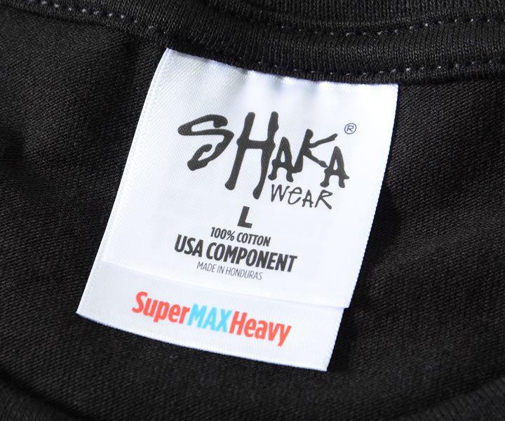 SHAKA WEAR シャカウェア ロンT 長袖 無地 ヘヴィーウェイト Super MAX Heavy 7.5oz