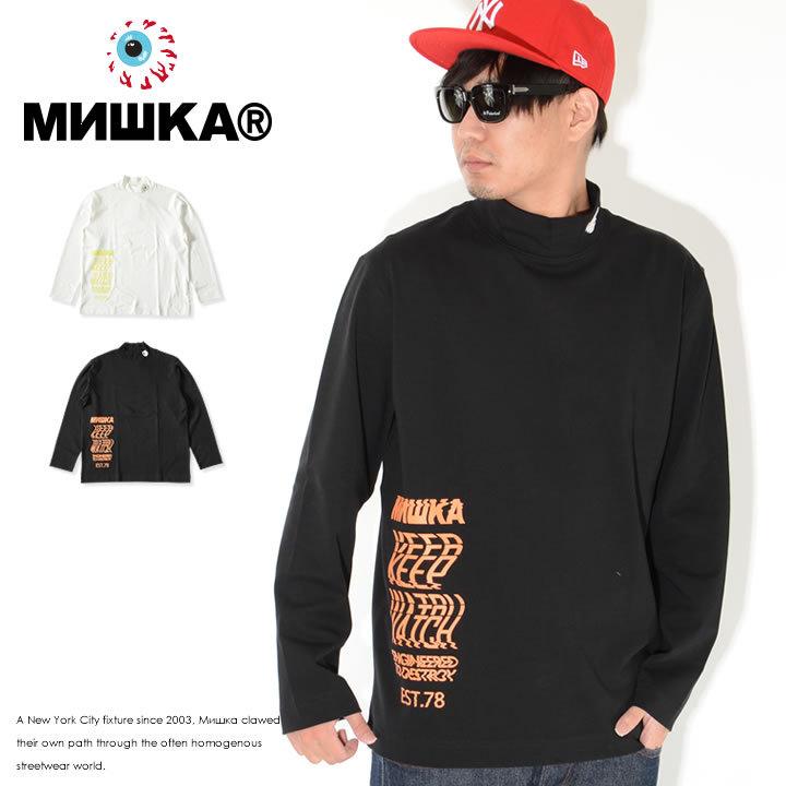 MISHKA ミシカ ロンT 長袖 ハイネック キープウォッチ ウェーブロゴ (M21000001)