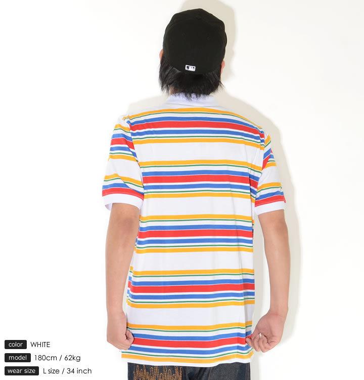 LRG エルアールジー ポロシャツ 半袖 ボーダー柄 ワンポイントロゴ刺繍 マルチカラー (L0V5MSPXX)