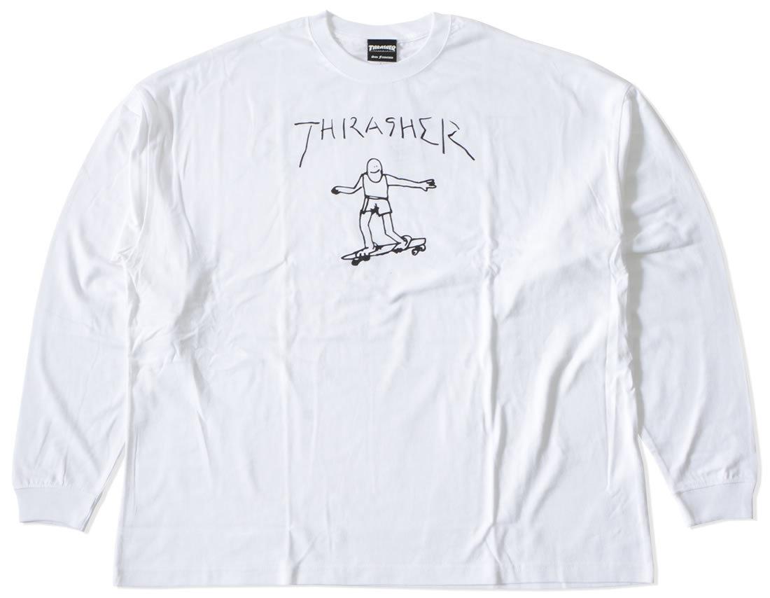 THRASHER スラッシャー ロンT 長袖 GONZスケーター ビッグシルエット (TH8328BS)