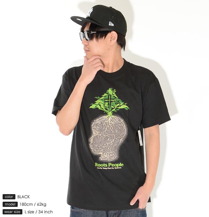 LRG エルアールジー Tシャツ 半袖 ネイチャーフェイスツリー Roots People (L0F2MSCXX)