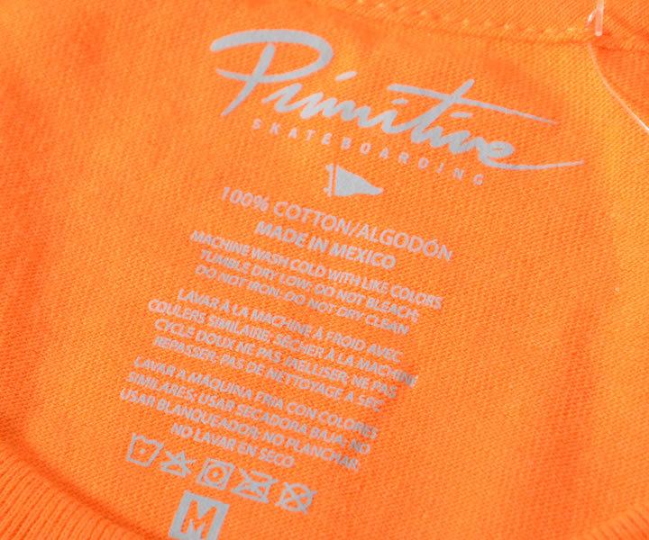 【セール】【アウトレット】PRIMITIVE プリミティブ Tシャツ 半袖 左胸サークルスクリプトロゴ *