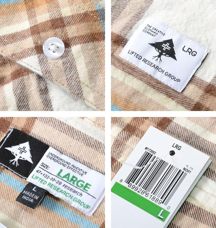 【セール】LRG エルアールジー 長袖シャツ フランネル チェック ダブルフラップポケット (M172002)