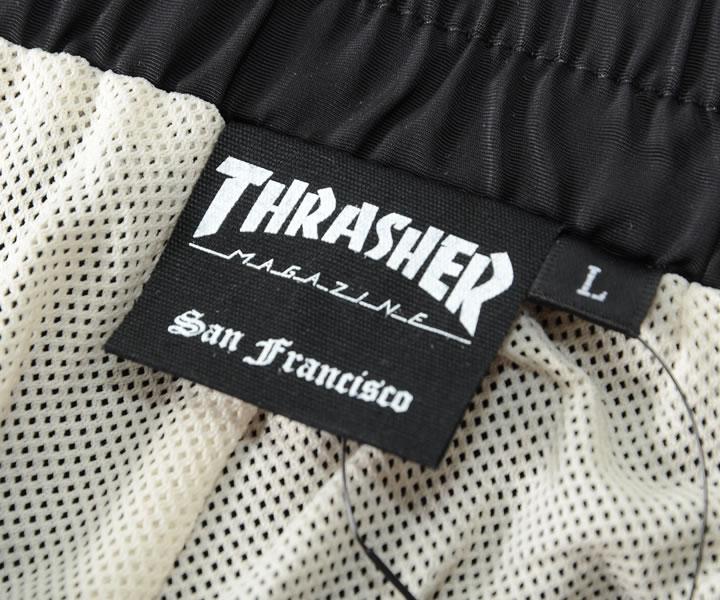 【セール】THRASHER スラッシャー ショートパンツ ハーフパンツ 左裾ライン MAGロゴ刺繍 *(TH6036)