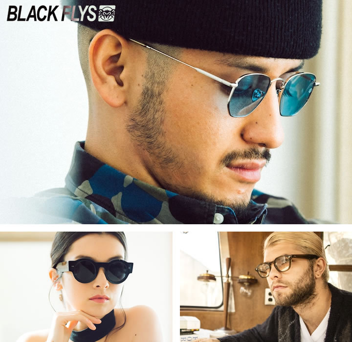 【セール】BLACK FLYS ブラックフライ サングラス UVカット スモークレンズ 折り畳み FLY MENPHIS FOLD (BF-1304-G2950)