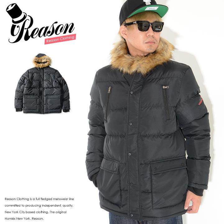【セール】REASON リーズン ジャケット 中綿 フードファー ダブルフラップポケット (MD0-107)