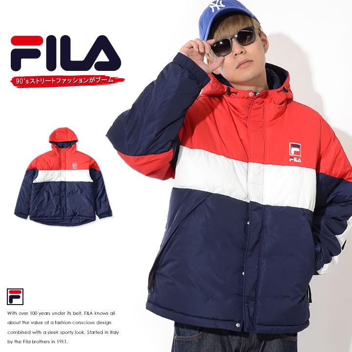 【セール】FILA フィラ 中綿ジャケット パーカー 切替トリコカラー (FM9505)