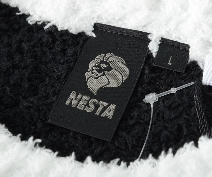 【セール】NESTA BRAND ネスタブランド ニット セーター 切替カラー フロントラインロゴ (191NB1401)