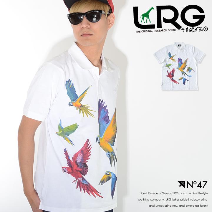 【セール】LRG エルアールジー ポロシャツ 半袖 総柄 マルチバード (C191045)