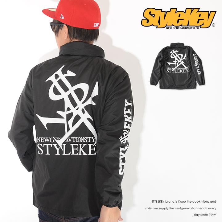 STYLEKEY スタイルキー ナイロンジャケット スタンドZIP 左胸ロイヤルロゴ バックプリント (SK19HO-JK01)