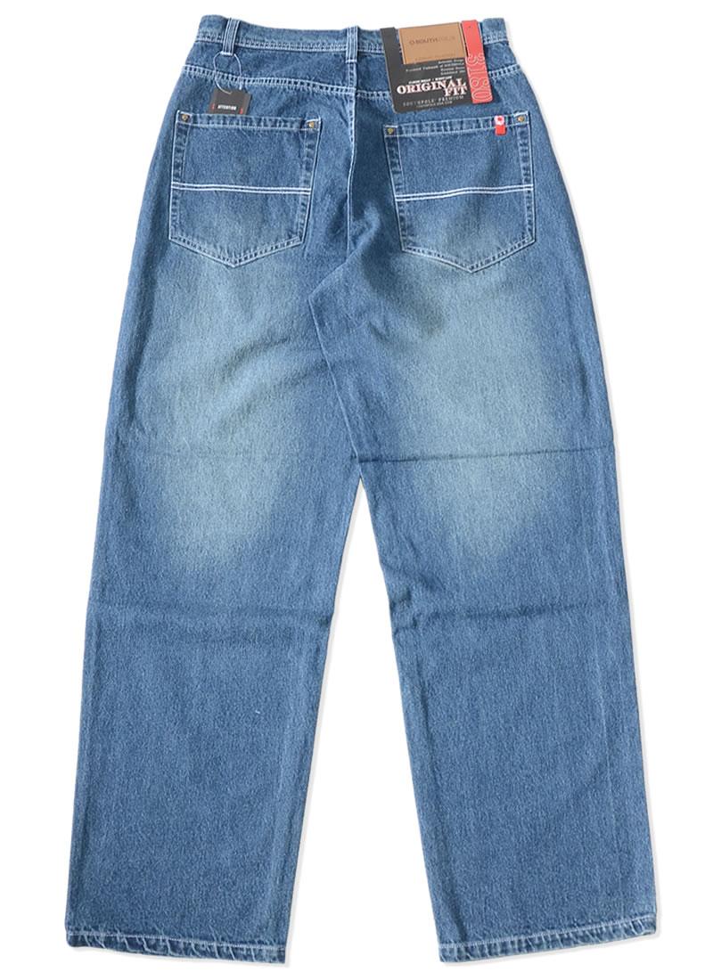 【ビッグサイズ】SOUTHPOLE サウスポール ジーンズ デニムパンツ オリジナルフィット ユーズドウォッシュ 極太 (31801402)