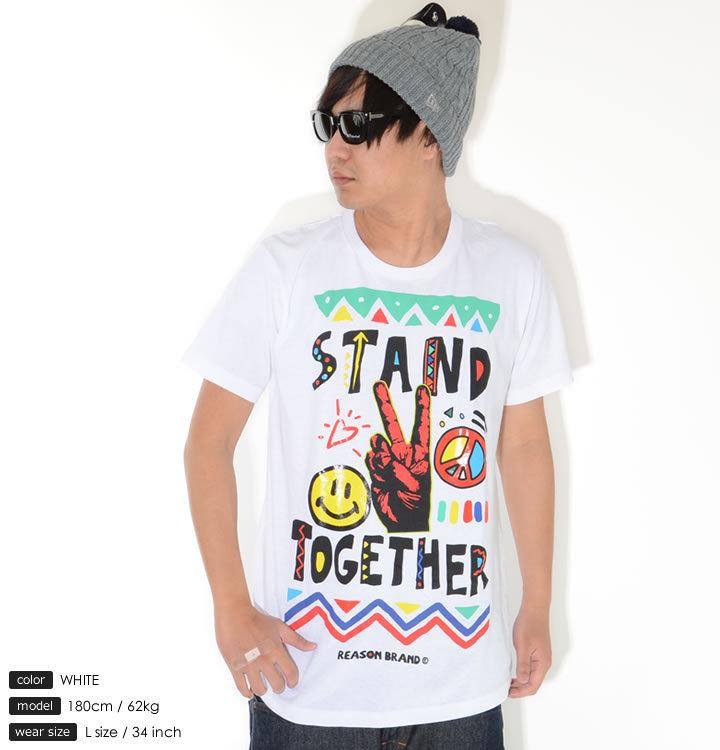 【セール】REASON リーズン Tシャツ 半袖 ピースハンド STAND TOGETHER (A1-309)