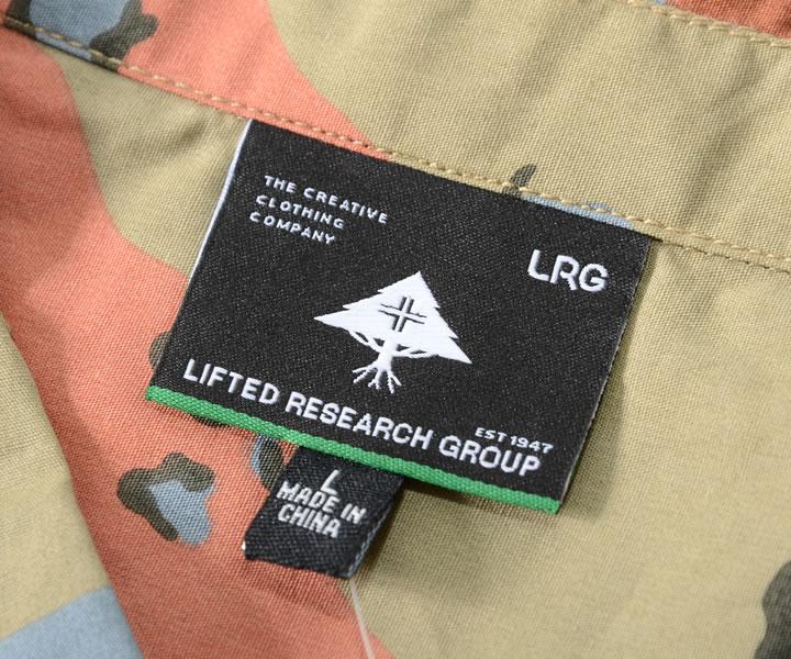 【セール】LRG エルアールジー 長袖シャツ 総柄 デザート迷彩 ダブルポケット (L192002)