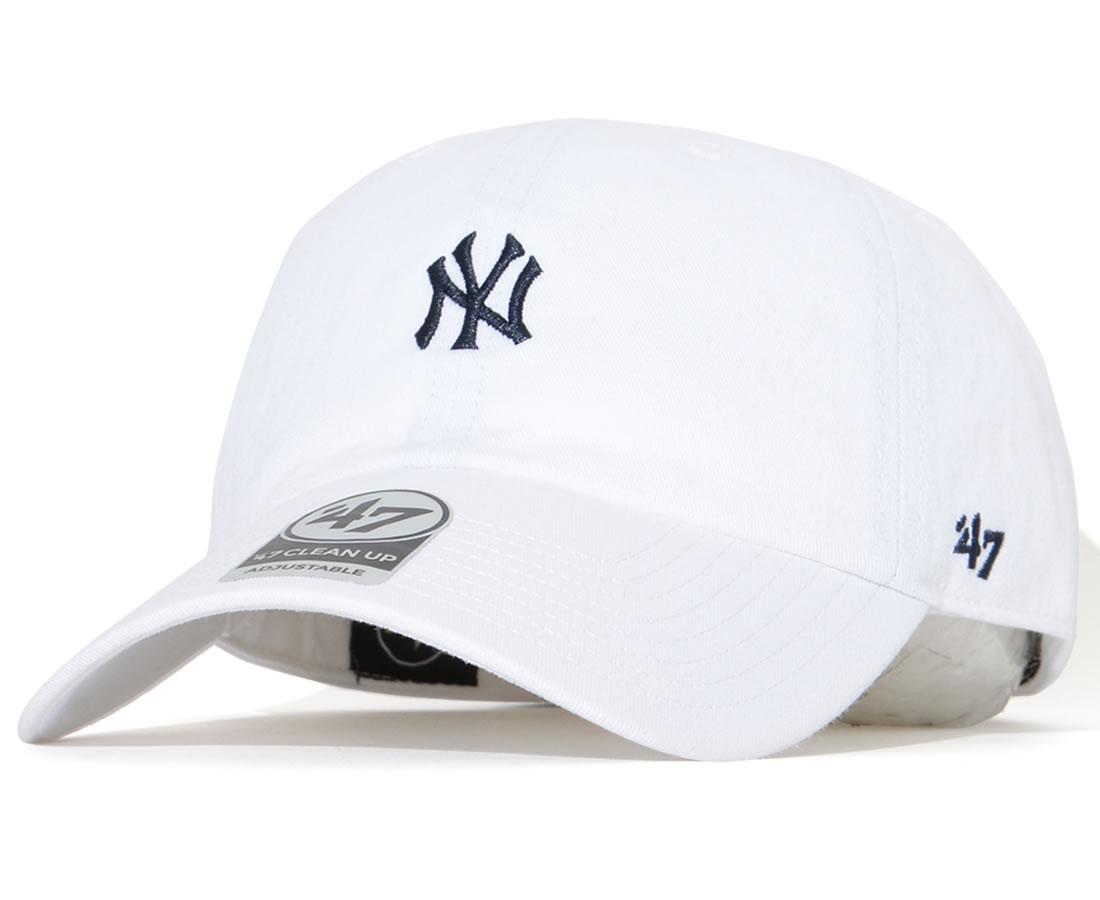 47BRAND フォーティーセブンブランド キャップ 帽子 ストラップバック スモールNYロゴ サイドパネル (MINCU17GWSNL-WH85)