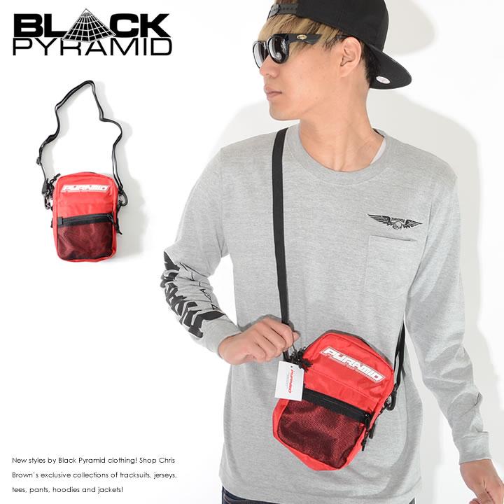 【セール】BLACK PYRAMID ブラックピラミッド ショルダーバッグ サコッシュ メッシュポケット ラバーロゴ (Y7161913)