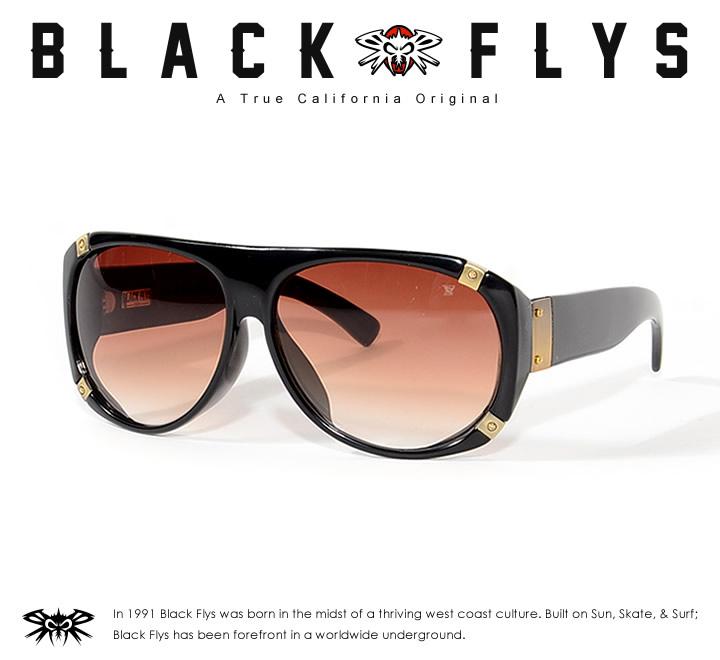 【セール】BLACK FLYS ブラックフライ サングラス UVカット スモークレンズ ROC FLY (BF-8560-014154)